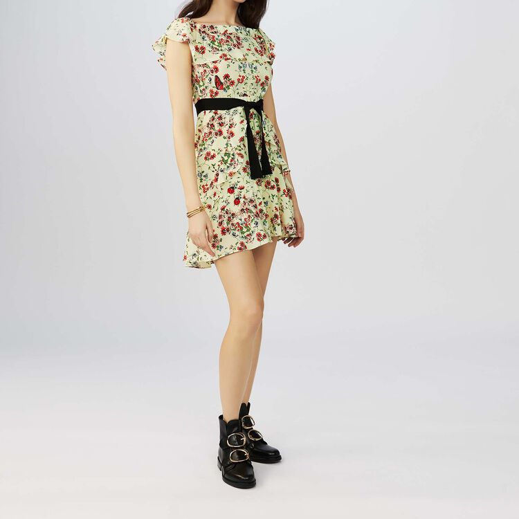 Vestido de seda estampada : Vestidos color IMPRIME