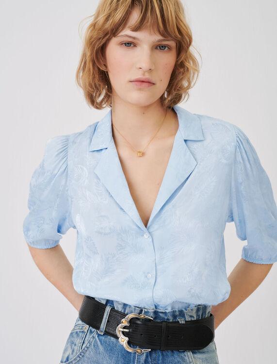 Camisa de jacquard fluida - Tops y Camisas - MAJE