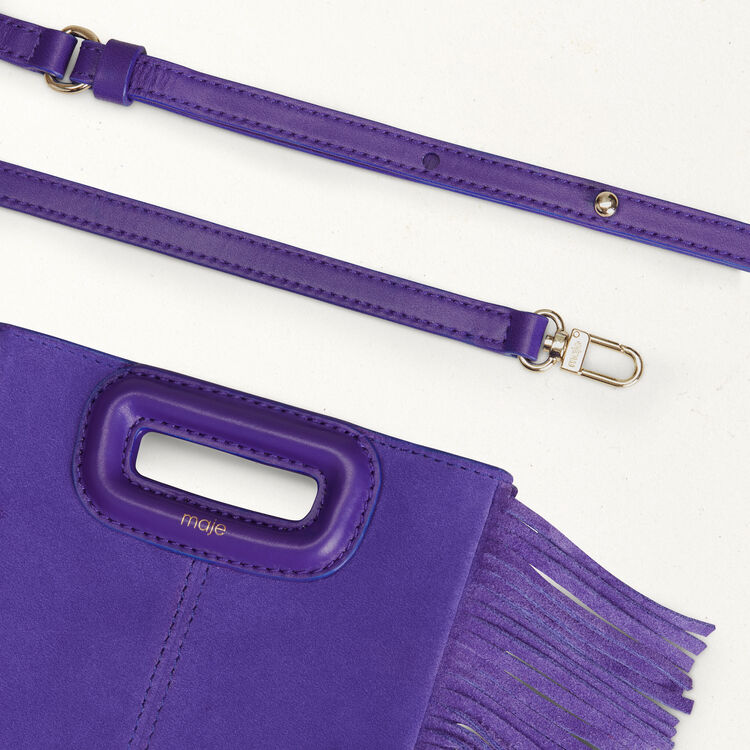 Mini-bolso M en gamuza con cadena : M Mini color Violeta