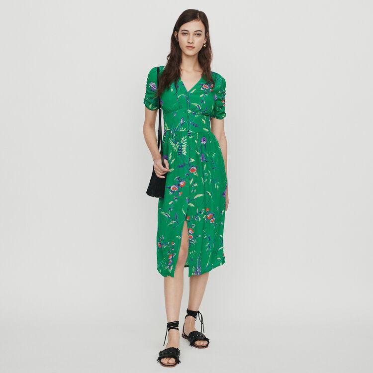 Vestido midi estampado de crepé : Vestidos color IMPRIME