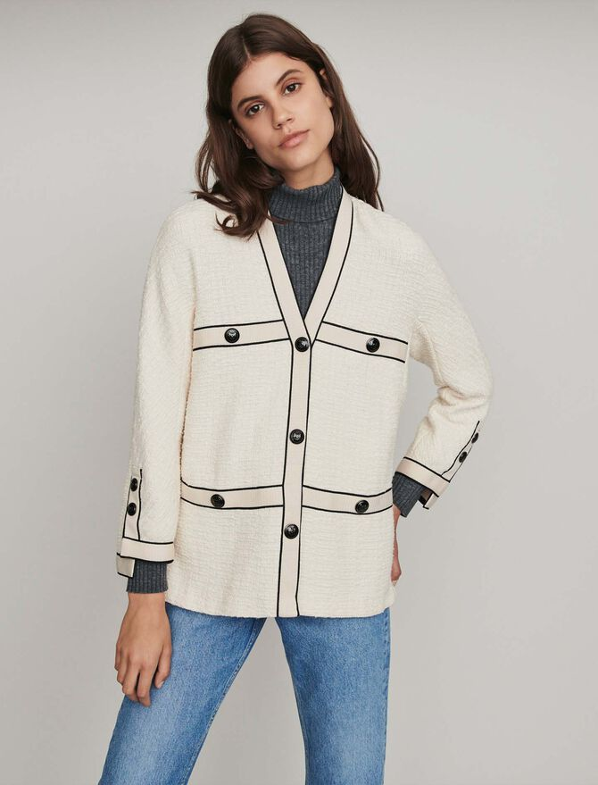 Chaqueta tipo tweed a contraste - Midseason-Sales_UK_30% - MAJE