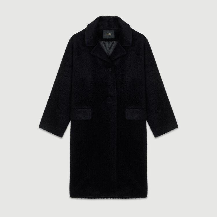 Abrigo largo de alpaca : Abrigos color Azul Marino