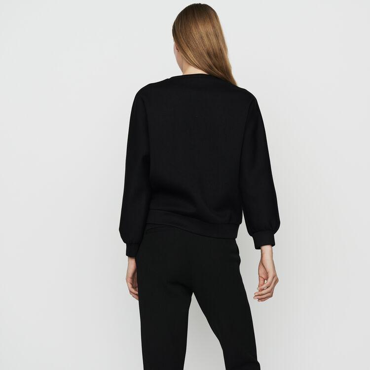 Sudadera en encaje : Sudareras color Negro