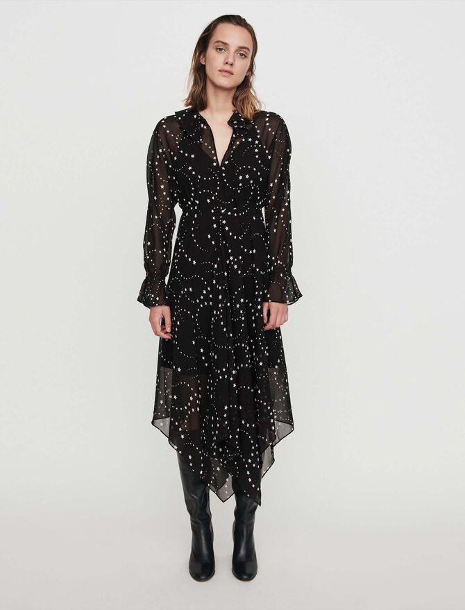 Vestido pañuelo estampado en muselina - Midseason-Sales_UK_30% - MAJE