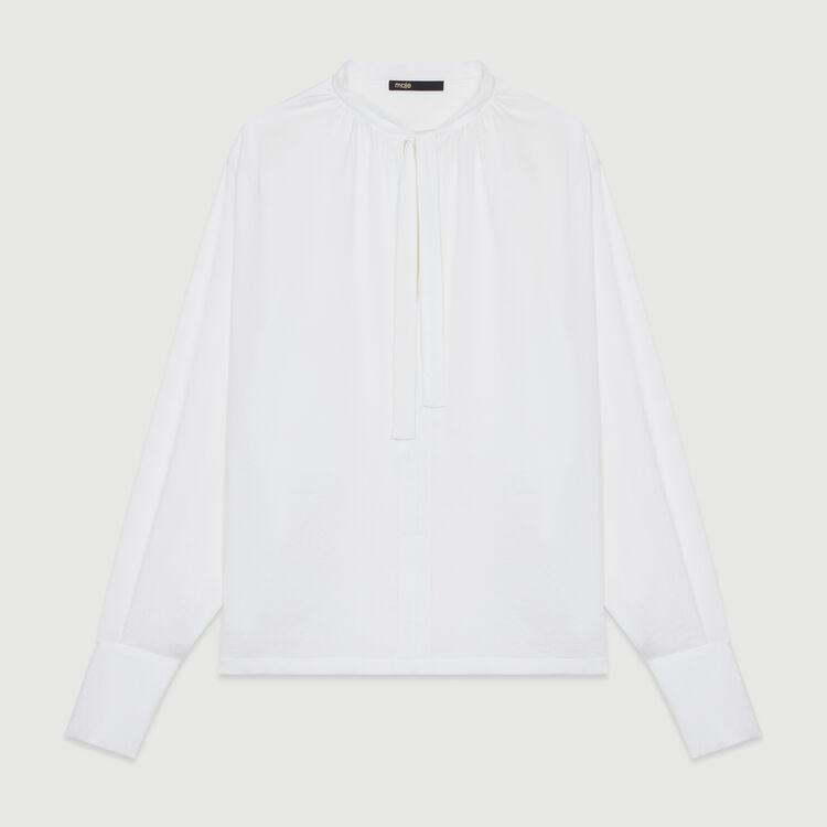 Blusa de crepé : Tops color Negro
