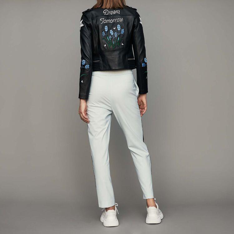 Pantalón con elástico : Pantalones color Azul Celeste