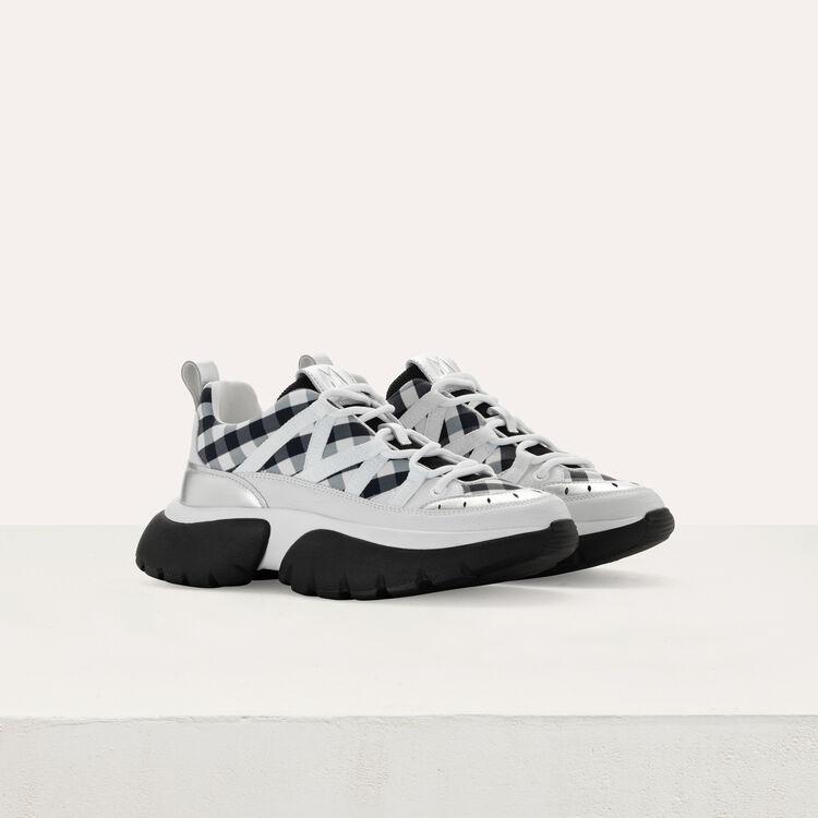 Sneakers W20 urbanos de cuero y vichy : Sneakers color Negro