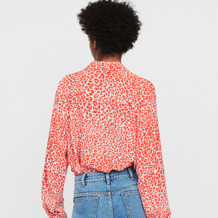 Blusa estampado leopardo : Camisas color IMPRIME