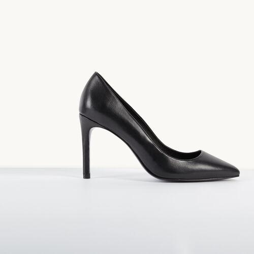 Zapato salón de piel - Zapatos - MAJE