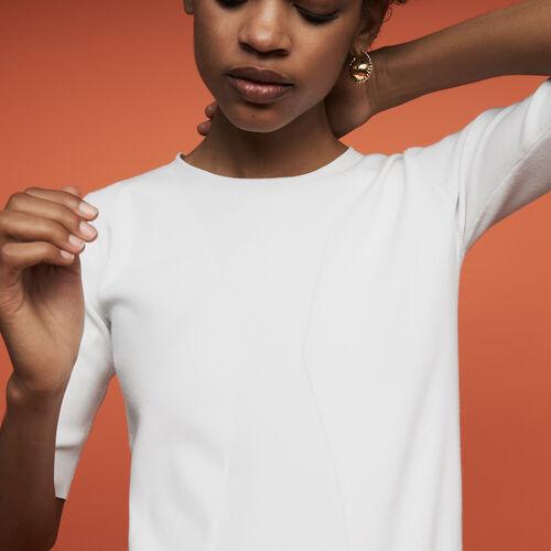 Jersey fino de manga corta : Prêt-à-porter color Fucsia