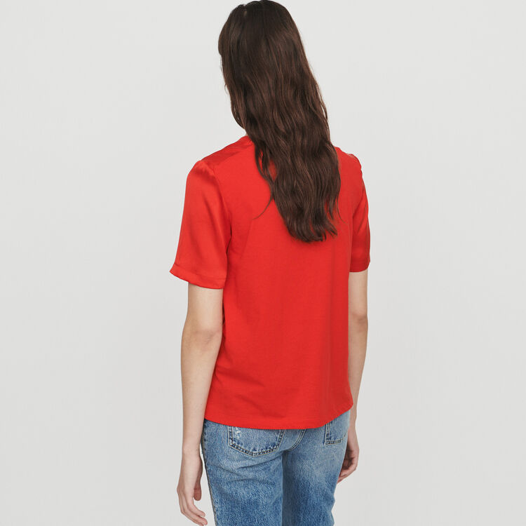 Camiseta bimateria : T-Shirts color Rojo