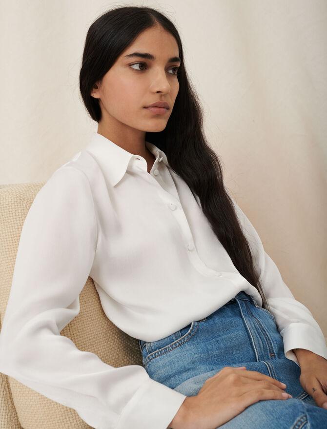 Camisa blanca de seda -  - MAJE