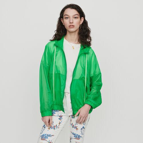 Rompevientos ligero con capucha : Abrigos color Verde