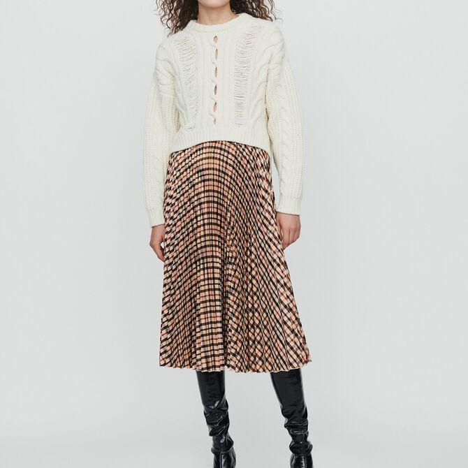 Falda de cuadros plisada elástica - Ver todo - MAJE