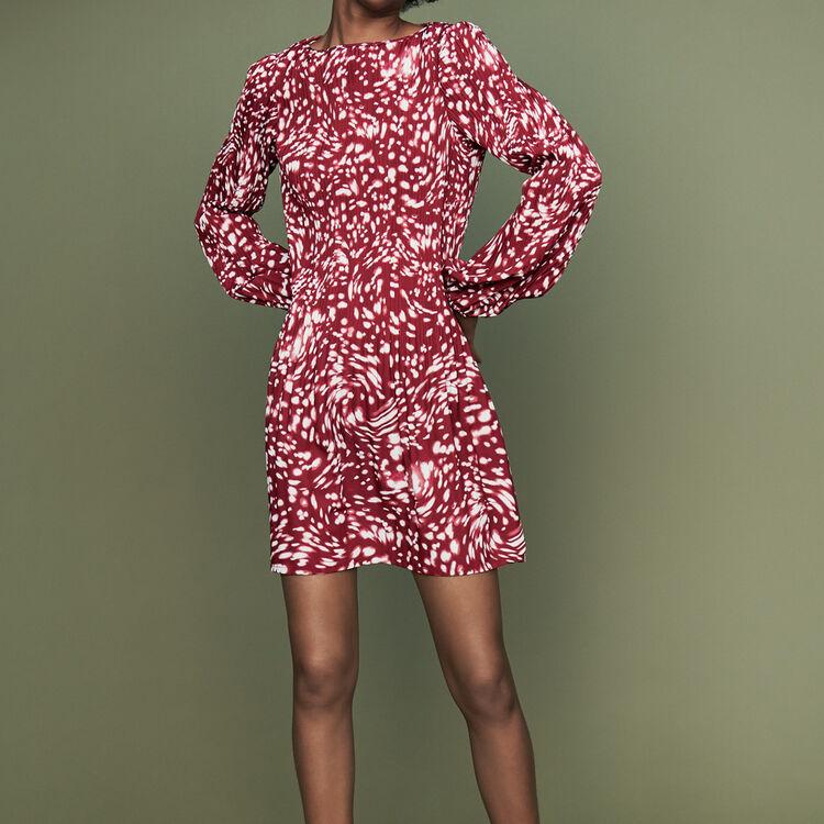Vestido plisado estampado fantasía : Vestidos color IMPRIME