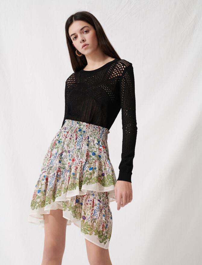 Falda bucólica fruncida de volantes - Faldas y shorts - MAJE