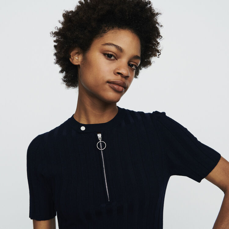 Suéter de mangas cortas de punto : Jerseys y cárdigans color Azul Marino