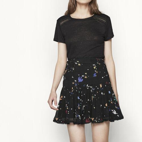 Falda de muselina estampada : Faldas y shorts color IMPRIME
