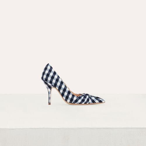 Zapatos de salón en vichy azul : Zapatos de tacón color Azul