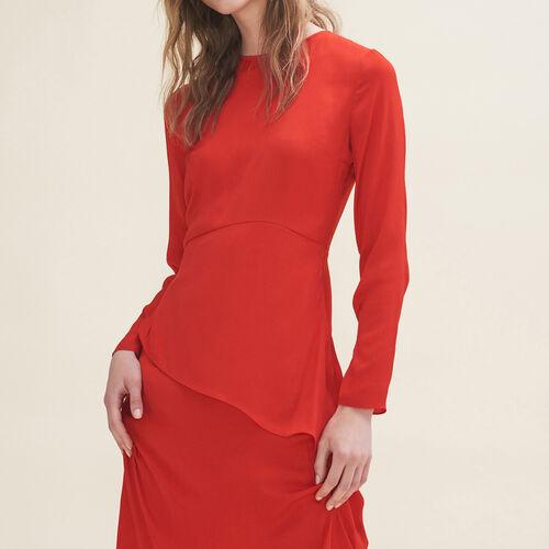 Vestido largo asimétrico : Vestidos color Rojo
