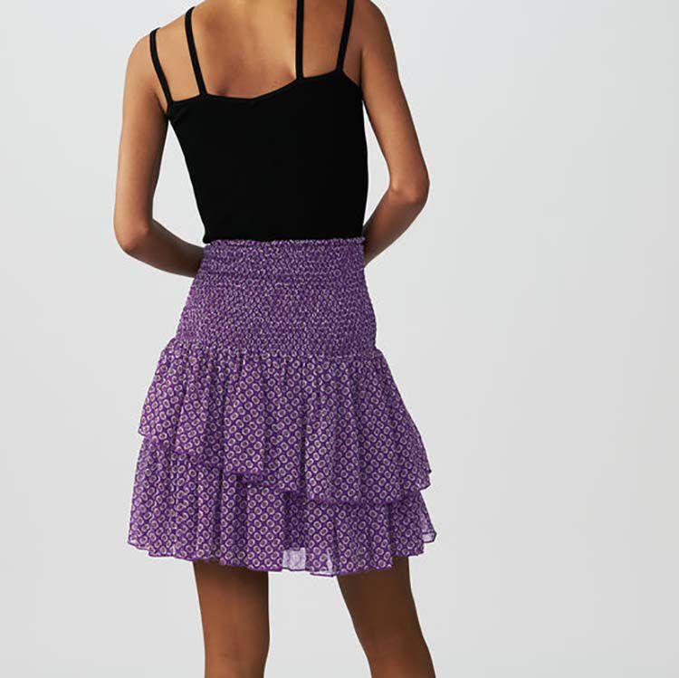 Falda estampada con volantes : Faldas y shorts color IMPRIME