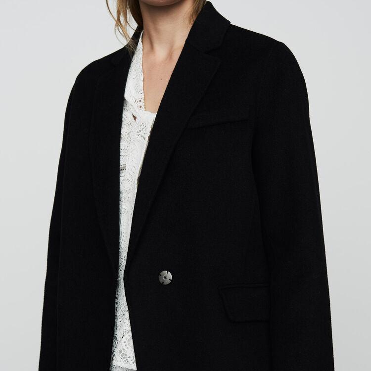 Abrigo de lana doble faz : Abrigos color Negro