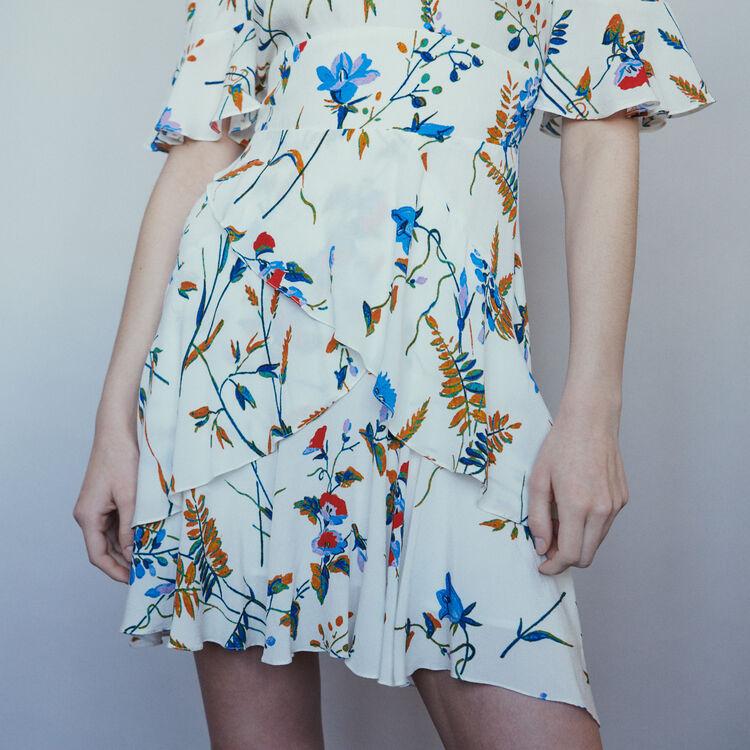 Vestido corto estampado con hombros : Vestidos color Estampado