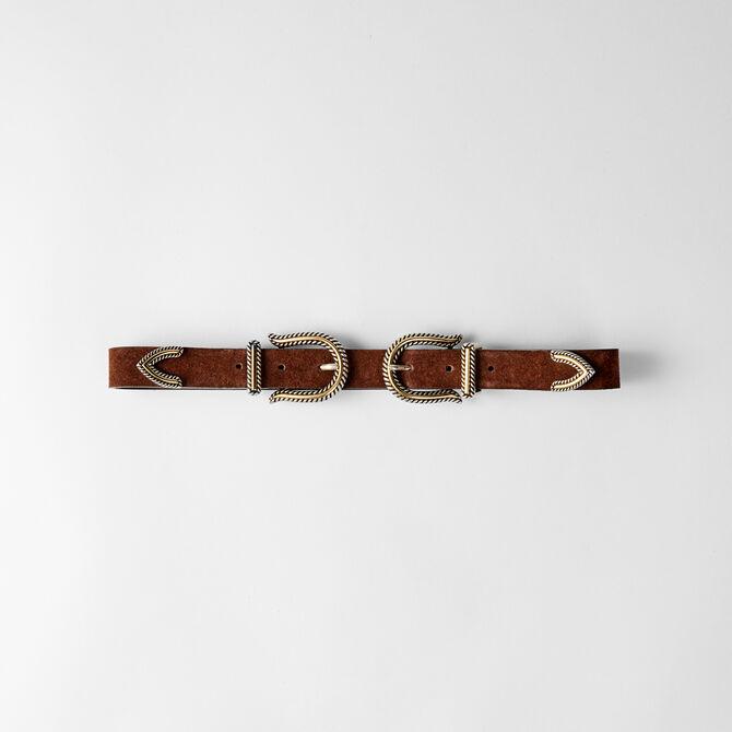 Cinturón tiro alto doble hebilla - Ver todo - MAJE