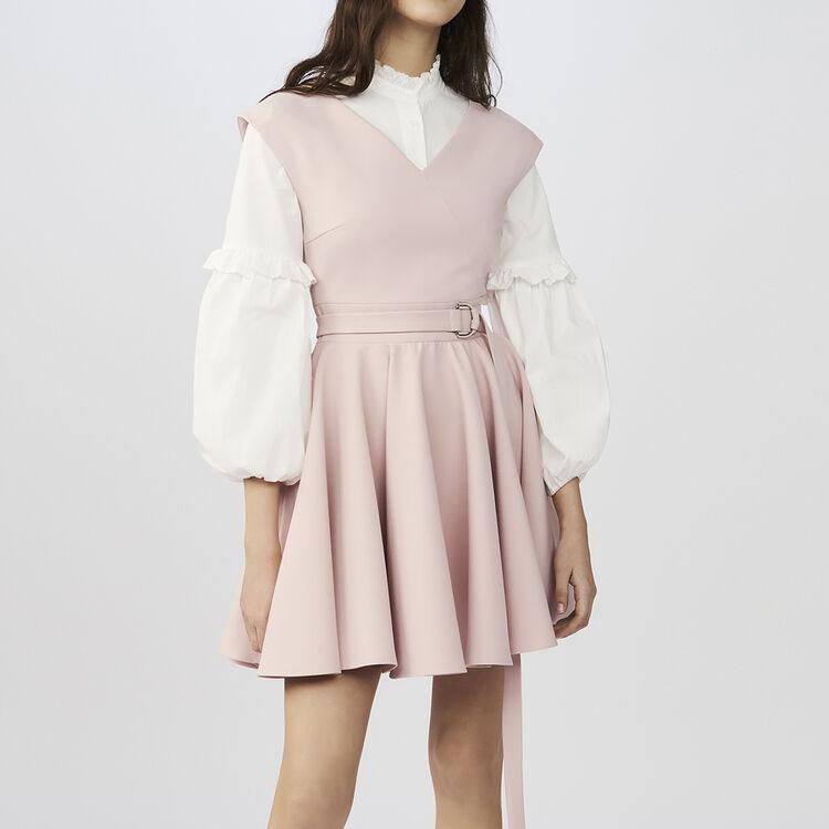 Vestido patinadora de crepe sin mangas : Vestidos color Rosa