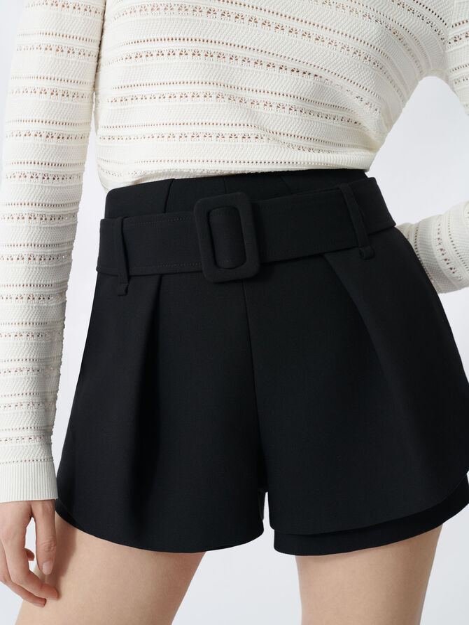 Trompe-l'œil skirt-style shorts - null - MAJE