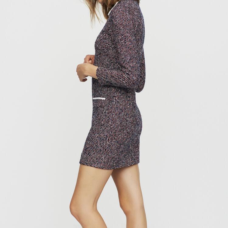 Vestido-camisero de tweed : Vestidos color Jacquard