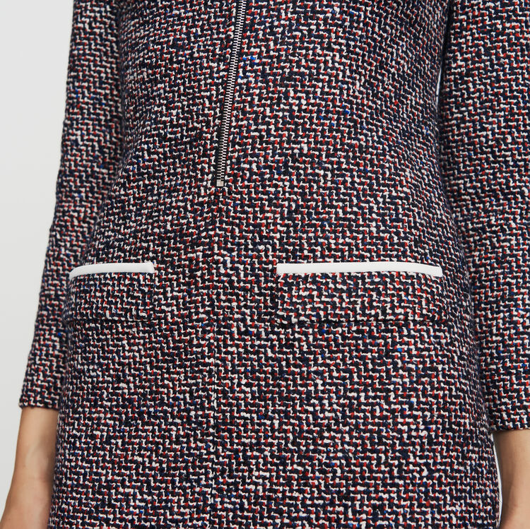 Vestido-camisero de tweed : Ver todo color Jacquard