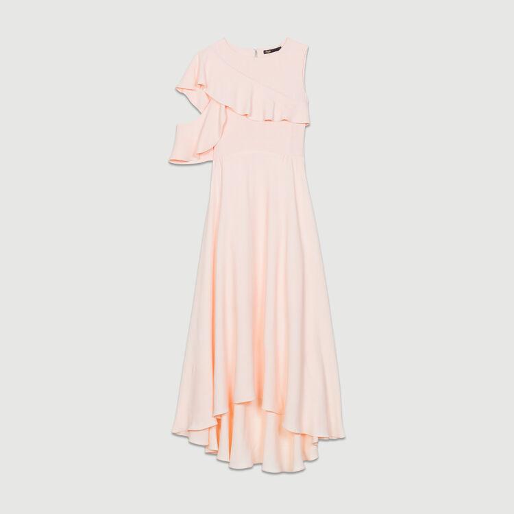 Vestido largo asimétrico sin mangas : Nueva Colección color PECHE