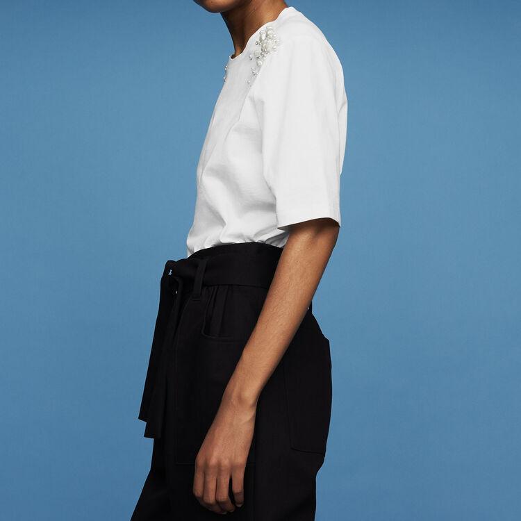 Camiseta de algodón : Prêt-à-porter color Blanco
