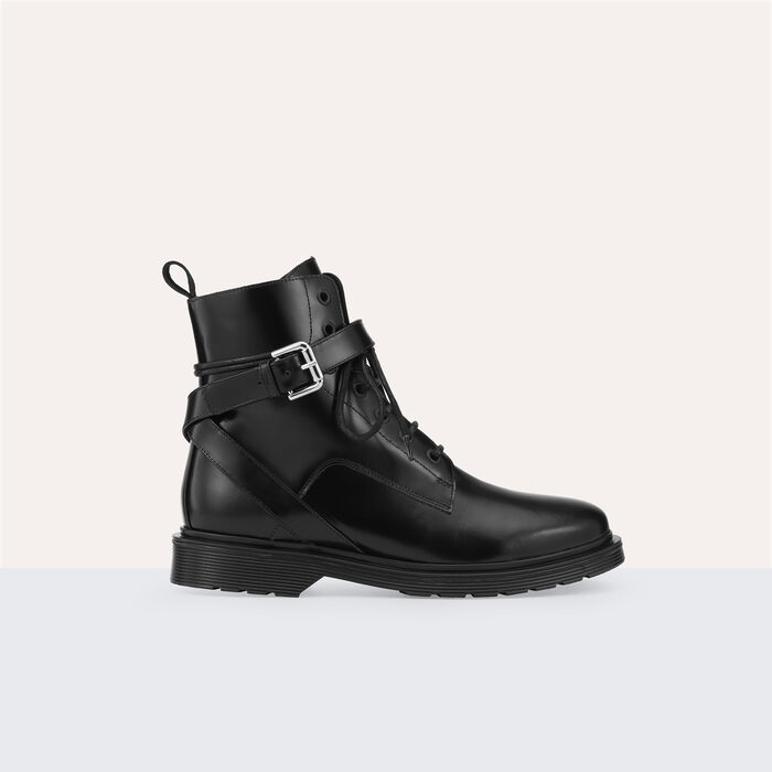 Hohe Stiefel aus Leder - Zapatos - MAJE