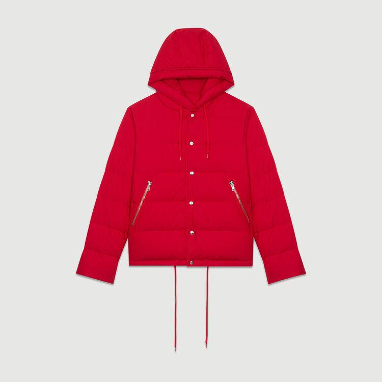 Plumas con cremallera y capucha : Abrigos color Rojo