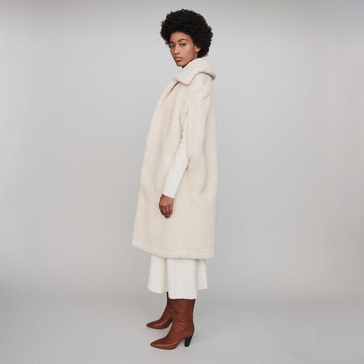 Abrigo de falsa piel tipo capa : Abrigos y Cazadoras color Crudo