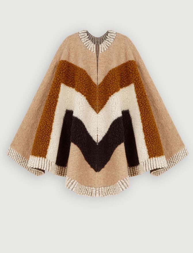 Poncho de lana mezclada - Pañuelos & Ponchos - MAJE