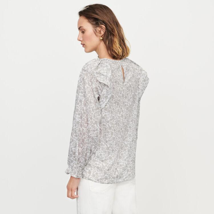 Top de flores con volantes : Tops y Camisas color Gris