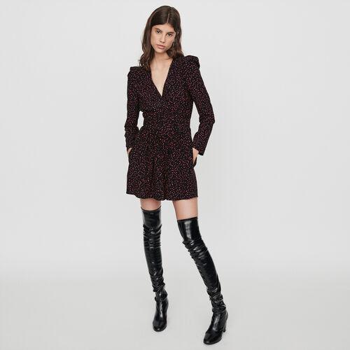 Mono short trompe l'œil estampado : Faldas y shorts color Negro