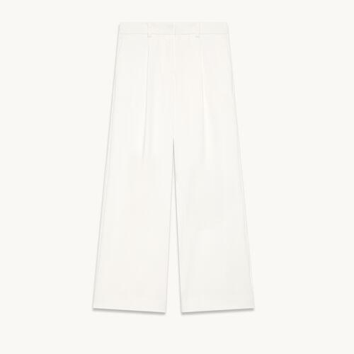 Pantalón ancho con pinzas - null - MAJE