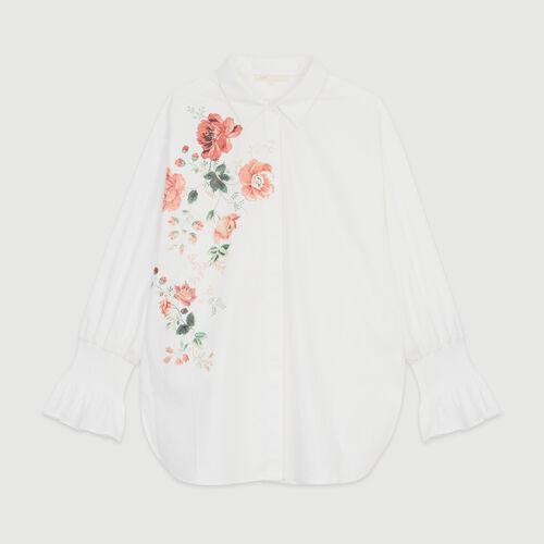 Blusa con estampado floral : Tops y Camisas color Blanco