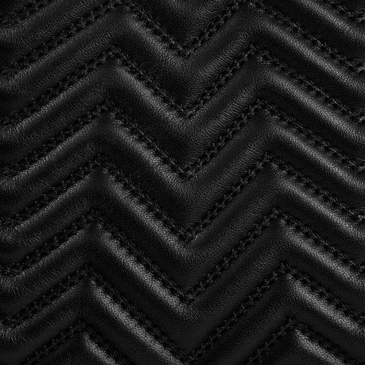 Bolso M de piel acolchada : Bolsos M color Negro