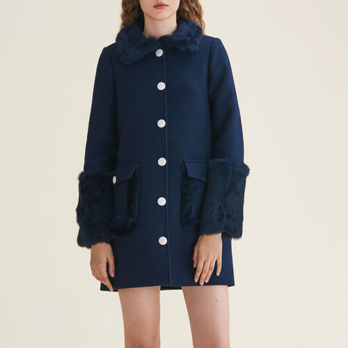 Mixed wool coat : staff private sale color Azul