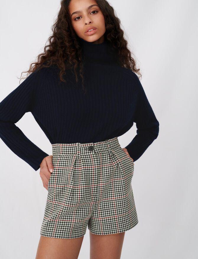 Short amplio de cuadros - Faldas y shorts - MAJE