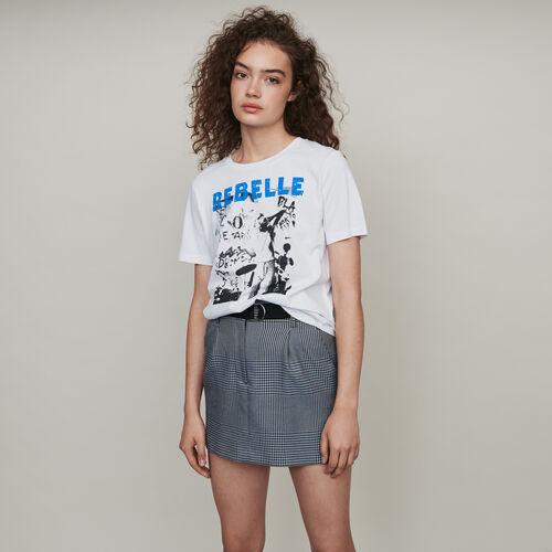 Camiseta decorada : Colección invierno color Blanco