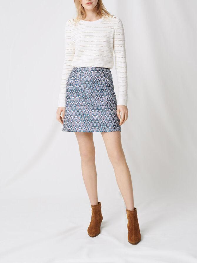 Falda de jacquard lúrex - Faldas y shorts - MAJE