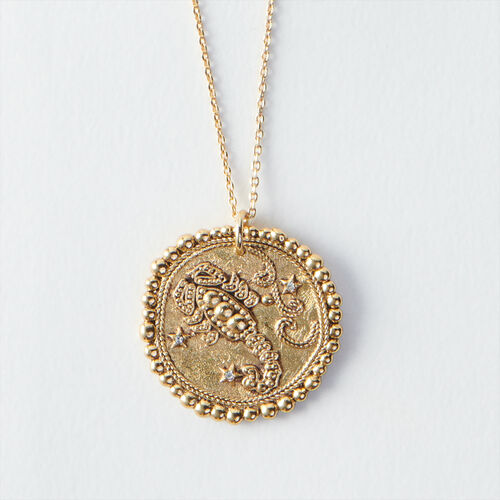 Collar de signo del Zodíaco Escorpión : Todos los accesorios color Latón Envejecido