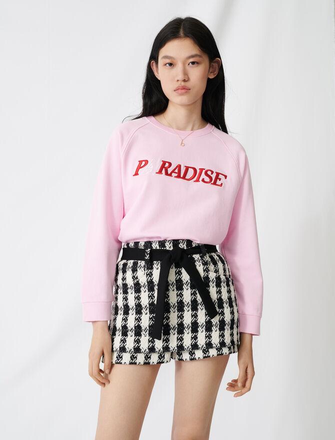 Short efecto falda tweed - Faldas y shorts - MAJE