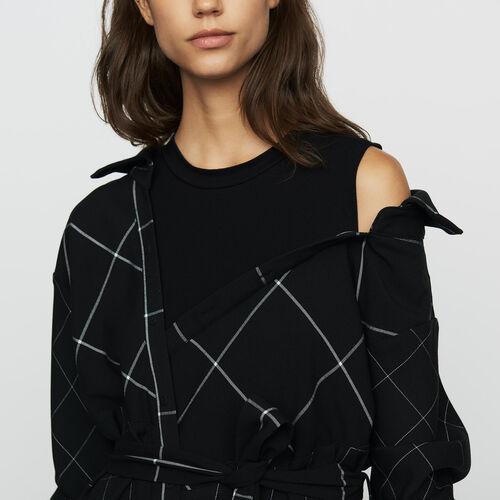 Vestido-camisero asimétrico de cuadros : Prêt-à-porter color CARREAUX